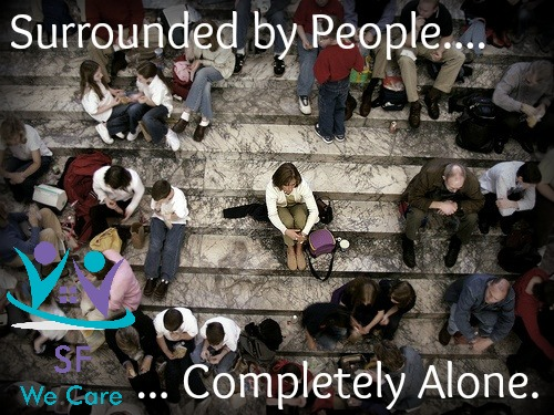 Feeling alone surrounded by people